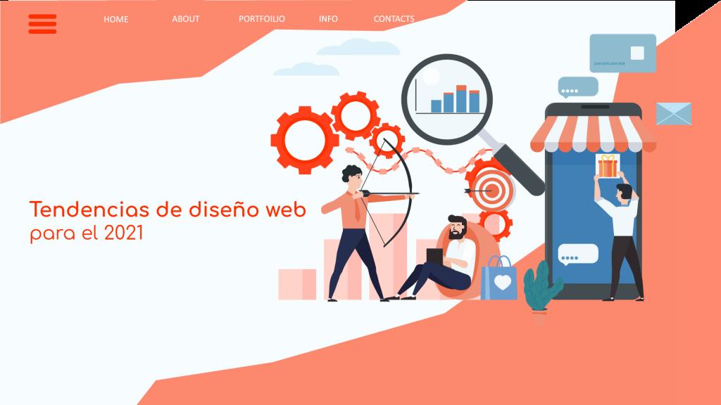 Conoce las tendencias de diseño web para el 2021